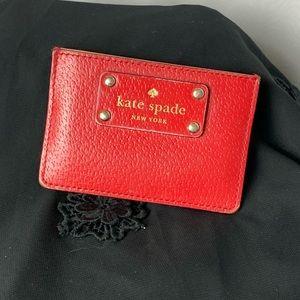 Kate Spade Red Cardholder